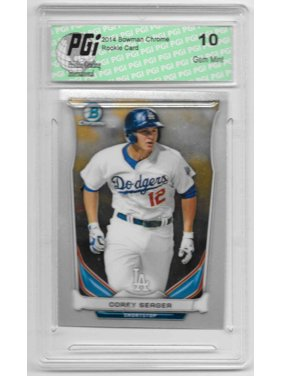 2014 Corey Seager Bowman Chrome Rookie Card CTP-41 PGI 10 Dodgers