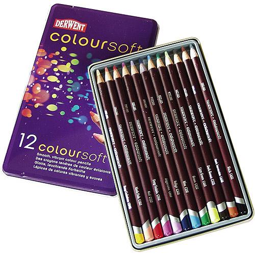 Derwent Coloursoft Pencils, 12pk