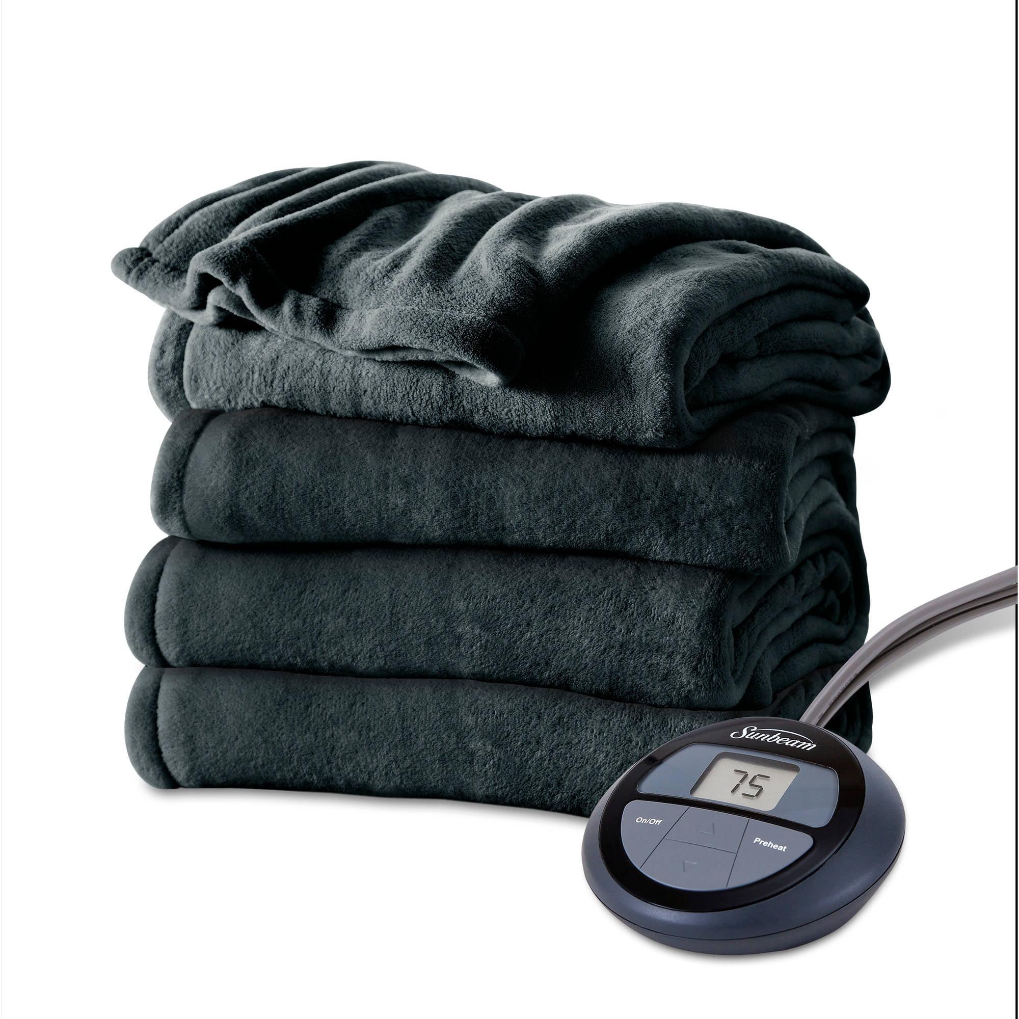 b7f93cf62d Sunbeam Electric Heated Microplush Blanket (BSM9KTSR53116A0) - Walmart.com