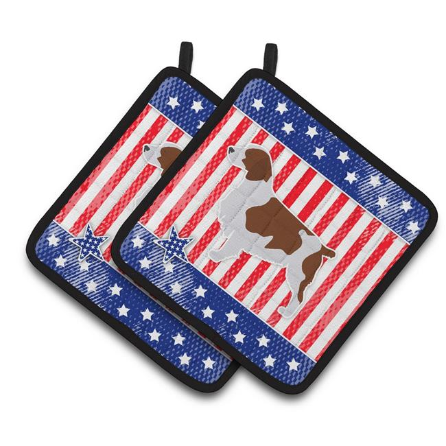 Carolines Treasures BB3300PTHD USA Patriotic Welsh Springer Spaniel Pair of Pot Holders - image 1 of 1