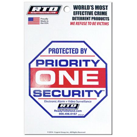 True Value 210570 Priority 1 Security Decal - Pack of 12 - image 1 de 1