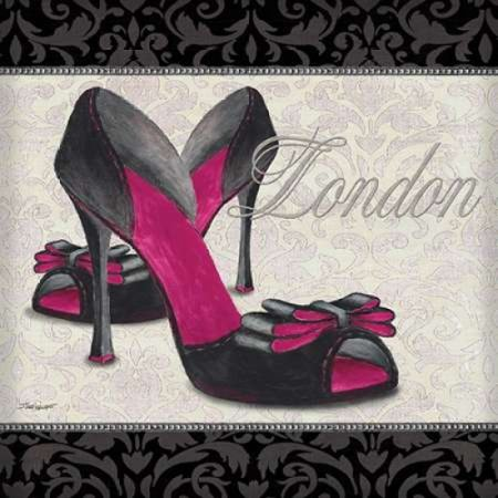 Pink Shoes Square I Poster Print by Todd Williams