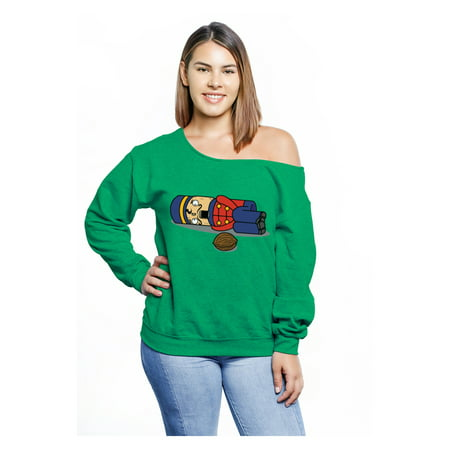 Awkward Styles Nutcracker Off Shoulder Sweatshirt Plus Size Christmas Sweater Matching with Christmas Pajamas Funny Xmas Gifts for Her Women's Ugly Christmas Sweater Oversized Holiday Chunky - Ugly Sweater Pajamas