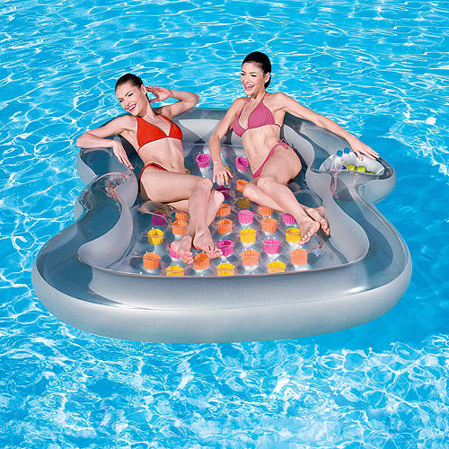 Splash and Play Double Designer Inflatable Pool Lounge Float