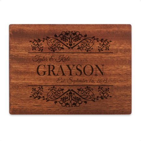 Personalized 6 x 8 Mahogany Cutting - Cheap Wedding Gifts
