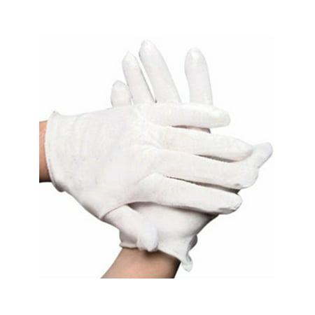 Teen Ladies Child White Sheer Economy Costume Gloves (Costume Gloves)