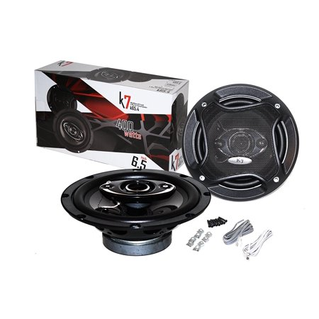 Coaxial Speakers System - K7 PAIR OF K65.4 6.5-INCHS 6-1/2' 400W 4-WAY CAR COAXIAL PROFESSIONAL HIGH PERFORMANCE SPEAKER SYSTEM