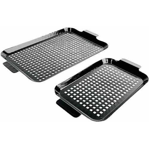 Charcoal Companion Porcelain Coated Grilling Grid Set, 2-PC Small & Medium, CC3110