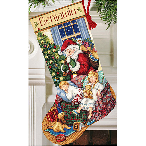 Sweet Dreams Stocking Counted Cross-Stitch Kit, 16""