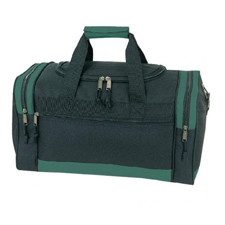 "Referee Soccer Duffel Bag Black / Green 17"" W x 10"" H x 9"" D](Referee Bag)"