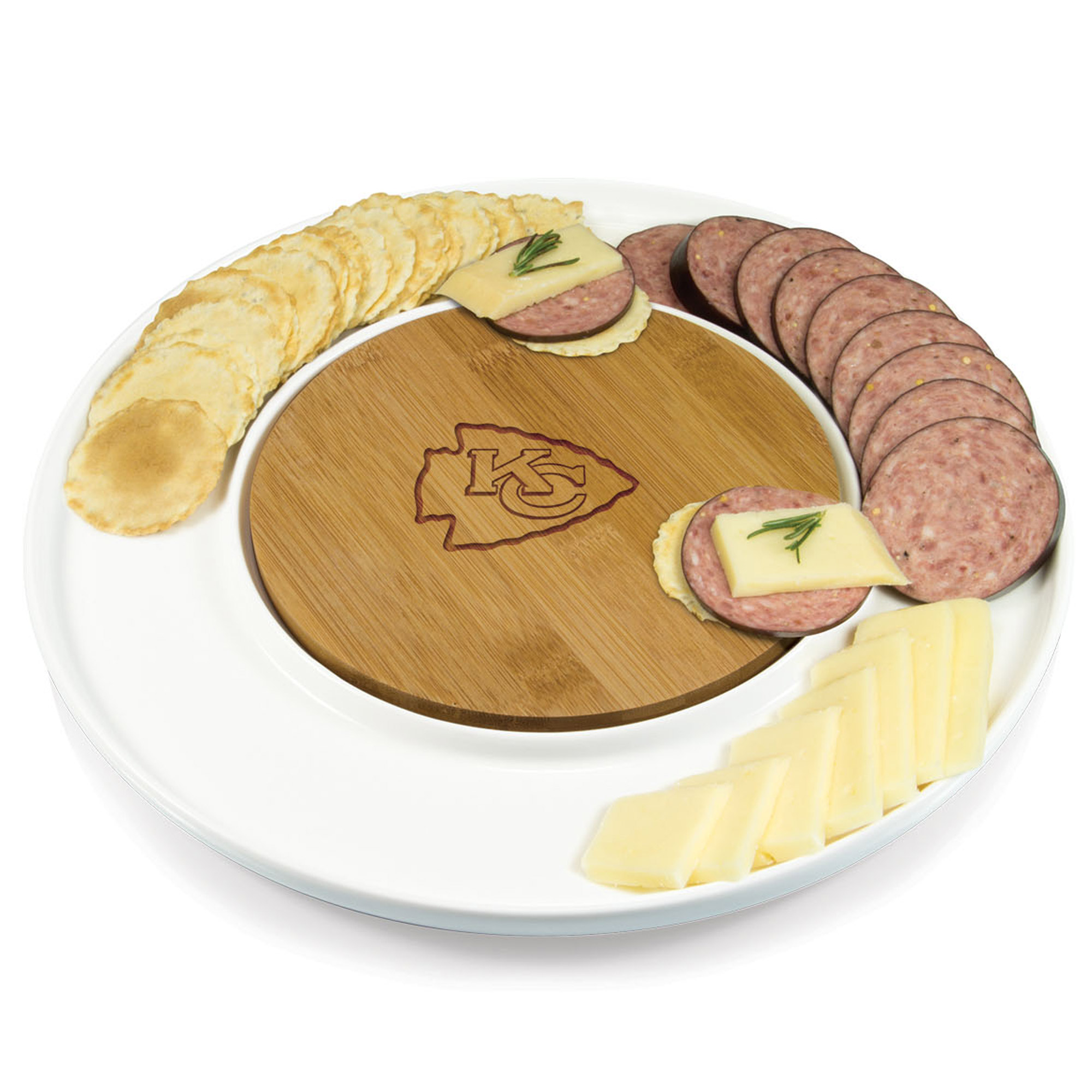 Kansas City Chiefs Island Platter - No Size