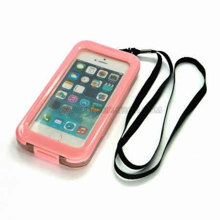 CyberTech Waterproof Phone Case for iPhone 5 / 5C / 5S, Shockproof, Dirt Proof, Sand Proof, Silicon Touch Screen (Pink) ()