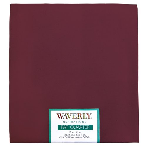 "Waverly Inspiration Solid Merlot Fat Quarter 100% Cotton, Solid Fabric, Quilting Fabric, Craft fabric, 18"" by 21"", 140 GSM"