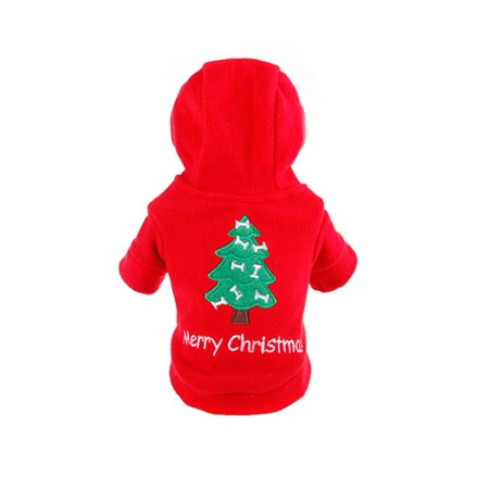 Warm Christmas Dog Coat Bright Red Puppy Jacket Autumn Winter Outdoor Pet Dog Clothes Windproof Animal Outer Wear - image 1 of 7