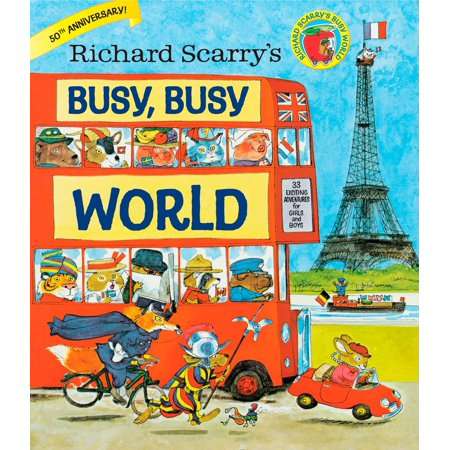 Richard Scarry's Busy, Busy World (Hardcover) Childrens Busy Book