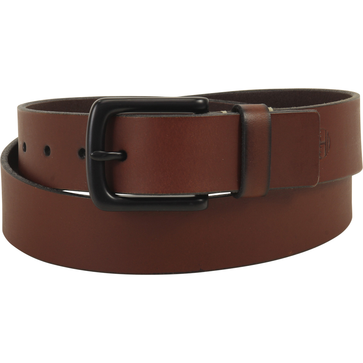 Timberland Men's Pull Up Brown Genuine Leather Belt by Timberland