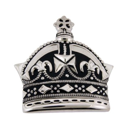 Crown Emperor Princess Prince Silver Star Royal Costume Black Metal Belt Buckle