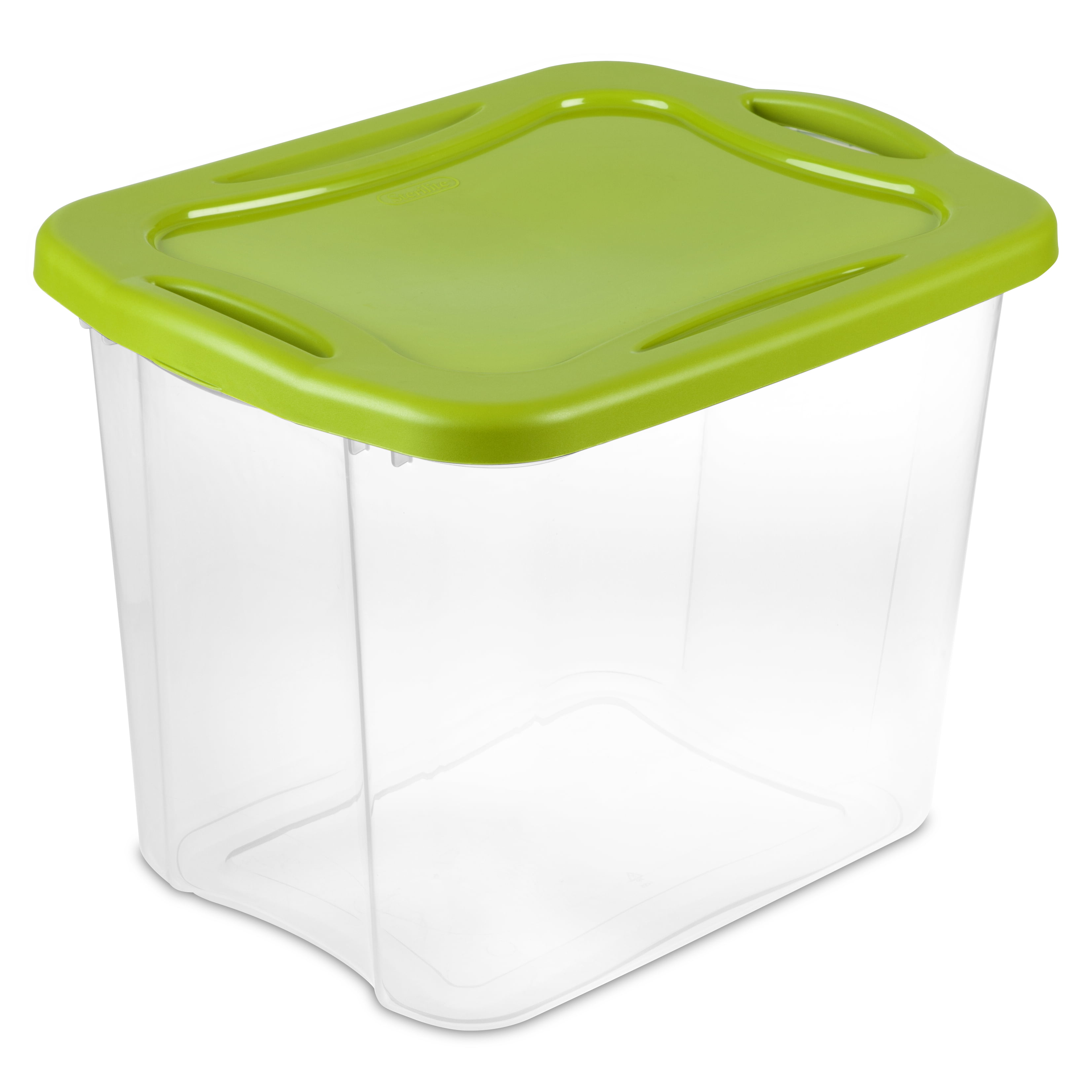 Sterilite 13.75 Clear & Spicy Lime EZ Carry Storage Tote, 2 Piece