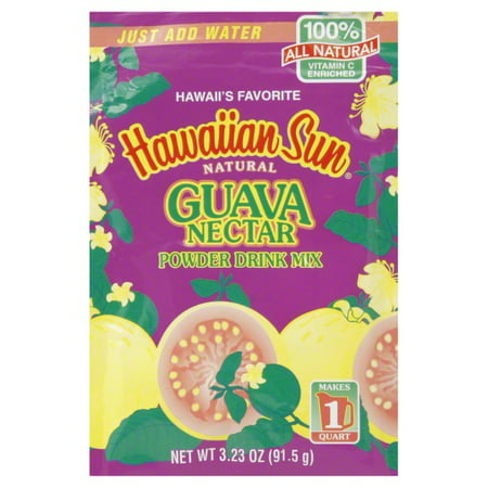 Hawaiian Guava Nectar Powder Drink Mix, 3.23 Oz. (Guava Drink)