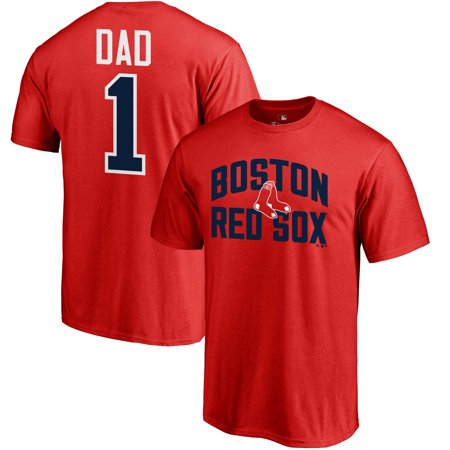 Big Daddy Gear - Boston Red Sox Fanatics Branded 2019 Father's Day Big & Tall #1 Dad T-Shirt - Red