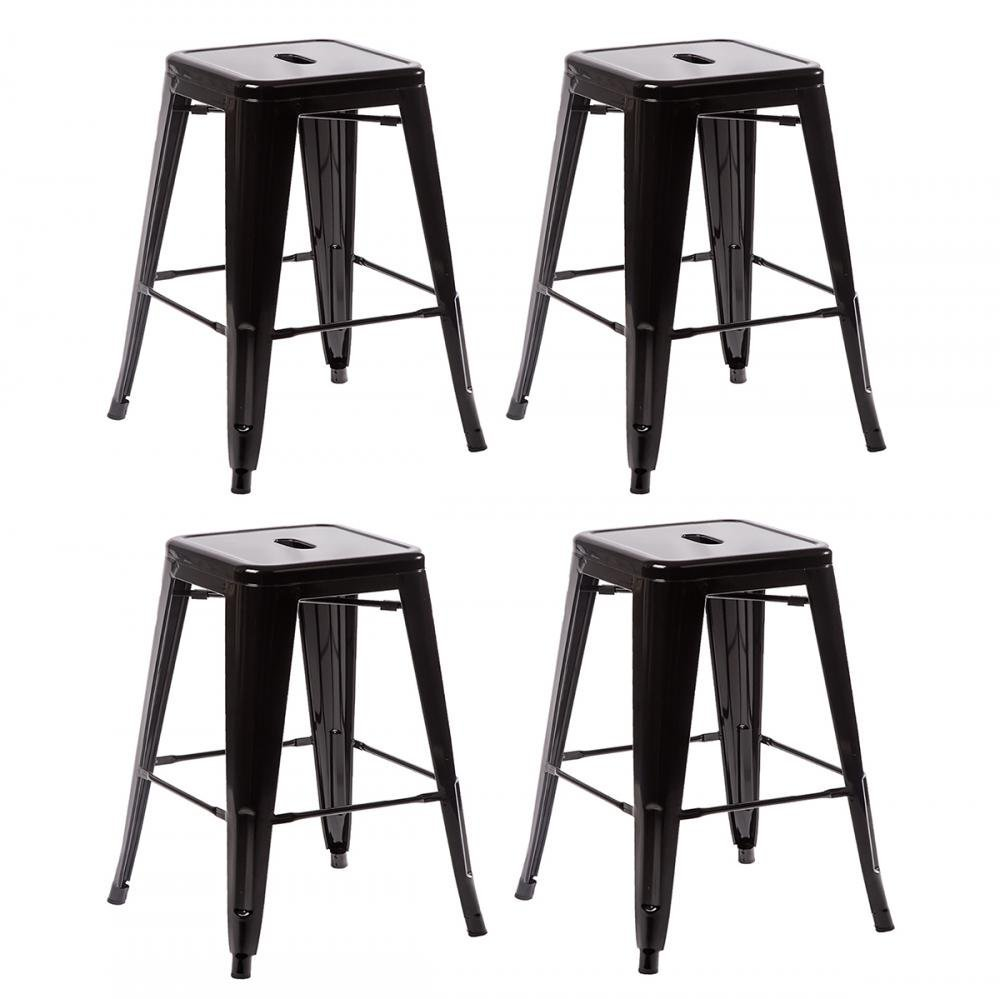 fdw metal stools bar stools 24 inch counter height
