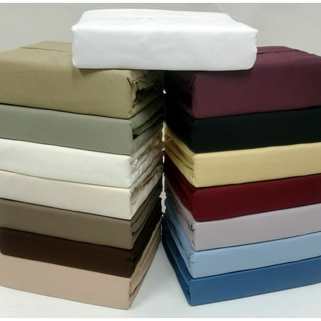 16 Deep Pocket 5 Sizes 1000tc Solid Egyptian Cotton Bed