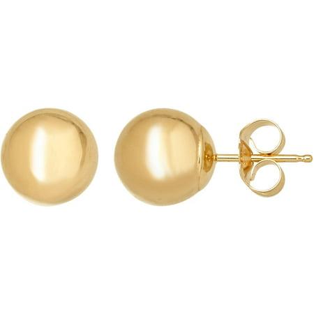 Eternity Gold 8 mm Ball Stud Earrings in 14kt Gold