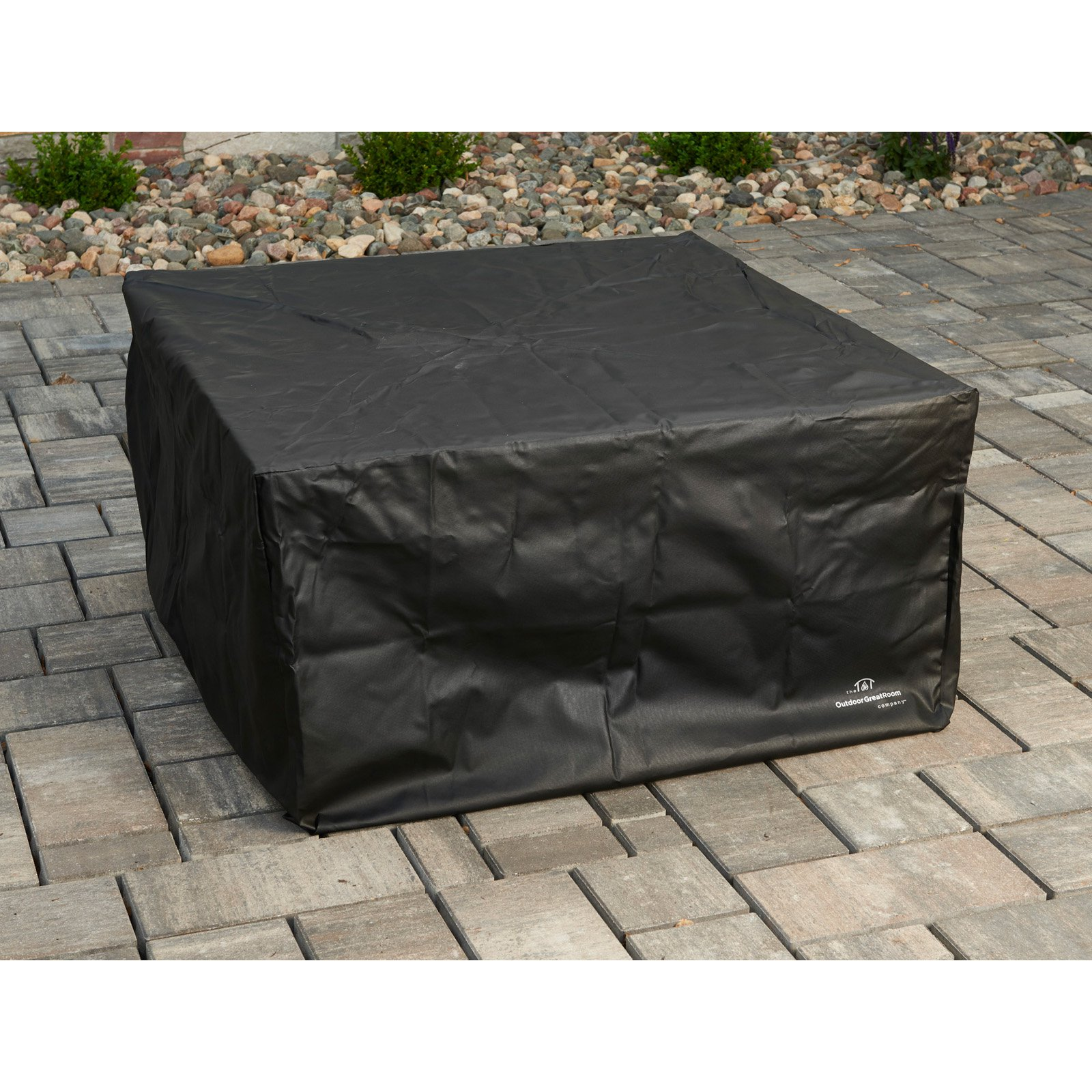 Outdoor GreatRoom Vinyl Cover for Sierra Fire Pit - 44 in. Square