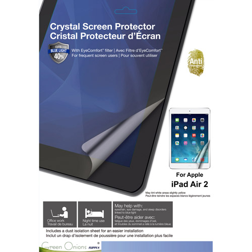 Green Onions Supply Blue Light Filter Screen Protector for Apple Apple iPad Air 2 Yellow Tint