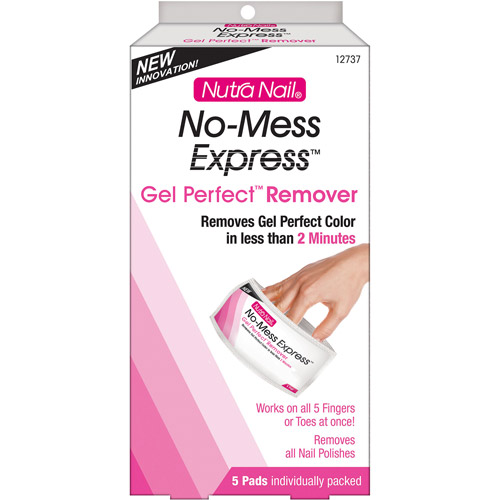 CCA Industries Nutra Nail No-Mess Express Gel Perfect Remover, 5 ea