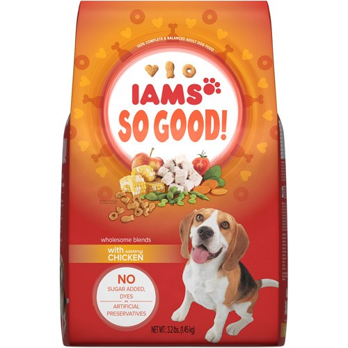 Iams So Good! Chicken Dry Dog Food, 3.2 Lb