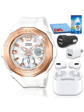 Casio Baby-G BGA220G-7A Watch with Airpods Pro Bundle