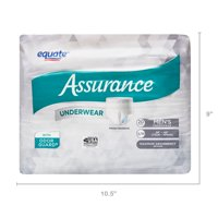 Assurance Incontinence Underwear for Men, Maximum, S/M, 6 Ct