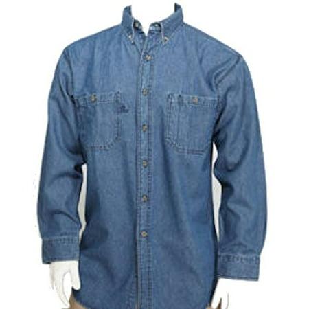 54b06fcc13f W S - BCO Denim Men s Long Sleeve ULTRA Regular Style Button Front Shirt