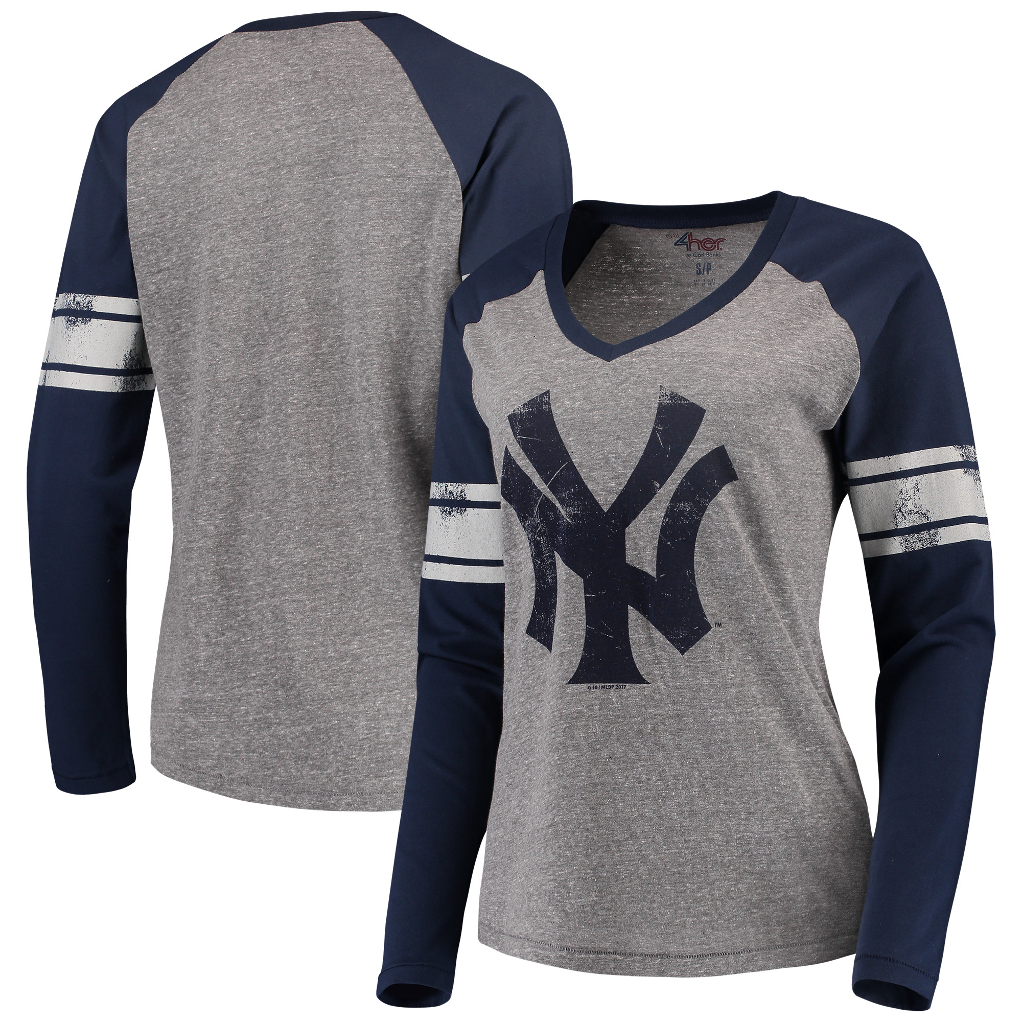 New York Yankees G-III 4Her by Carl Banks Women's The Franchise Long Sleeve T-Shirt - Navy