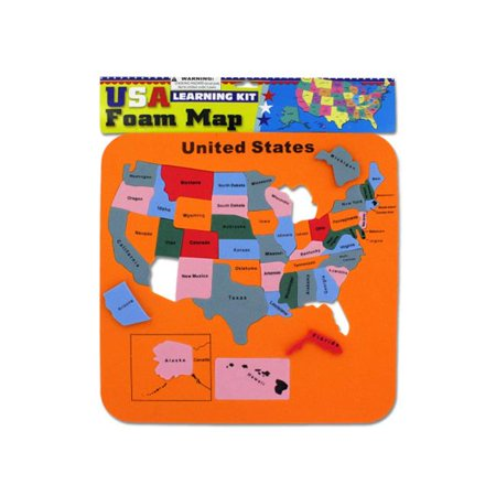 Bulk Buys KL152-96 16 L x 16 H USA Foam Map Set - Pack of 96