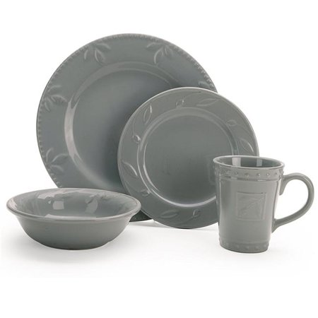 Sorrento Gray Place Setting, 4 Piece Brown 4 Piece Place Setting