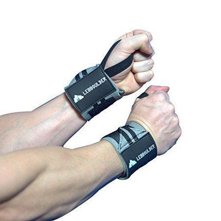 Weight Lifting Wrist Wraps Workout Training Grip Support Straps 18 inch
