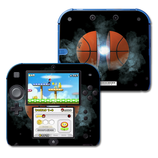Mightyskins Protective Vinyl Skin Decal Cover for Nintendo 2DS wrap sticker skins Basketball Orb