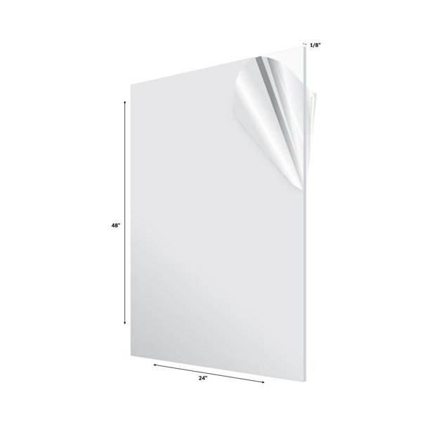 Adiroffice 24 X 48 Clear Plexiglass Acrylic Sheet Walmart Com Walmart Com