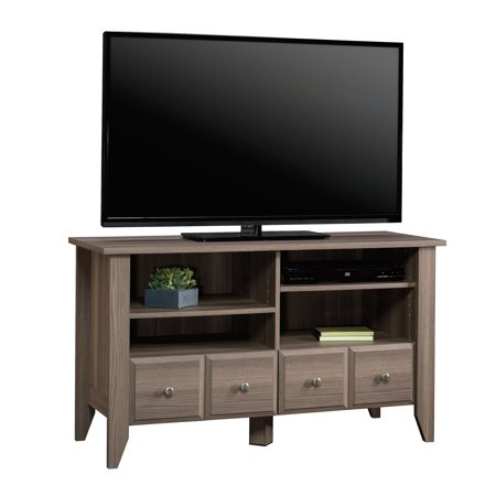 "Sauder Shoal Creek TV Stand for TVs up to 42"", Diamond Ash Finish"