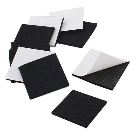 Office Self Stick Protecter Furniture Felt Cushions Pads Black 40mm X 40mm 10pcs