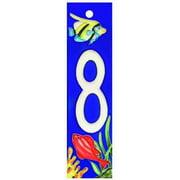 En Vogue NA-008 Aquarium Series 8 - Decorative Ceramic Art Tile - House Number - 2 inchx8. 5 inchEn Vogue