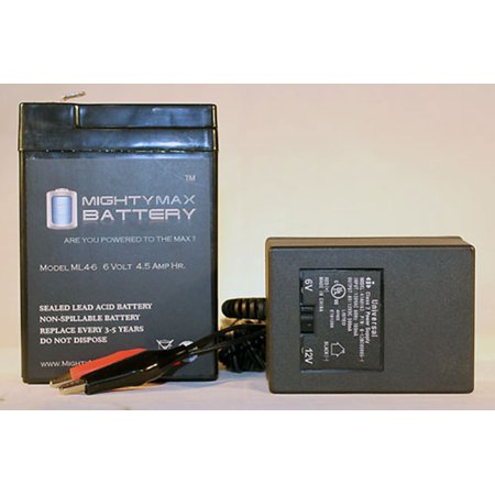 - 6V 4.5AH Battery Replaces Power Tech Off Road Rebel + 6V Charger