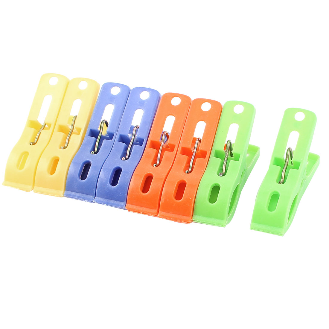 8 Pcs Household Plastic Nonslip Multipurpose Clothing Clothespins Clips Multicolour