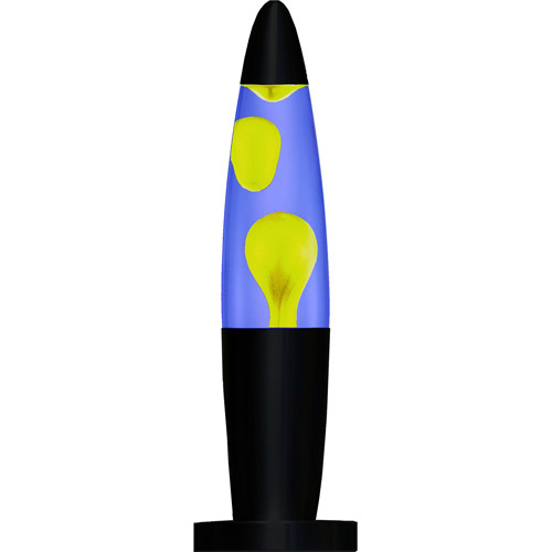 "Creative Motion 16"" Peace Motion Lamp, Yellow and Blue"