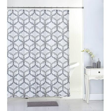 Mainstays 17-piece Bathroom Set, Grey Lattice ()