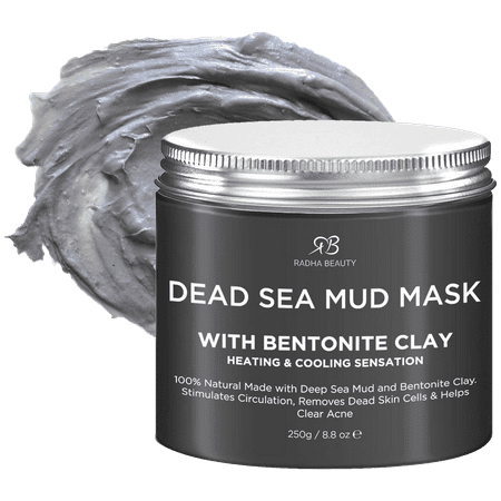 Radha Beauty Dead Sea Mud Mask (BENTONITE CLAY) for Deep Cleansing of Acne and Oily Skin