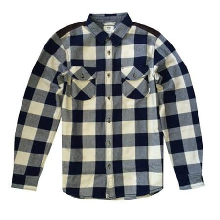 Vans Men's Hixon Jacket Button Down Plaid White - Vans Bird Jacket
