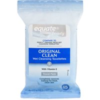 Equate Facial Cleansing Towelettes 15 CT